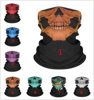 Rastgele renkler! Hip Hop Kafatası Desenleri Bandana Başörtüsü Sürme Maske Tüp Boyun Yüz Archarves Spor Sihirli Kafa Pick Kafatası Baskı Bandana