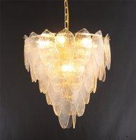 Современные стекла клинка Люстра Новый светильник Подвесной Лампы для гостиной Спальня Art Home Освещение PA0507
