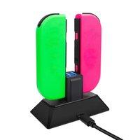 Doca de carregamento Para Nintend Mudar Controlador LED carregador para Nintendo Mudar Gamepad carga Stand For Joy-ConPro NS Chave 4 In1