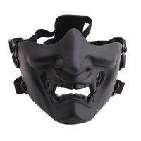 무서운 웃는 유령 반면 마스크 모양 조절 가능 (전술) 모자웨어 보호 할로윈 의상 액세서리 사이클링 페이스 마스크