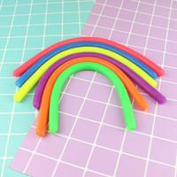 Crianças Adulto brinquedos novidade Descompressão Ambiental Corda Fidget abreagir Flexível Glue Noodle Ropes elástico cordas Neon Slings