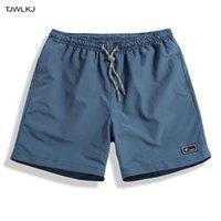 Pantalones cortos para hombres tjwlkj boach board natación pantalones trajes de baño hombres correr gimnasio rápido seco nadar verano surf troncos