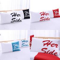 Funda de almohada Alfabeto Estampado Pillowcasas para la cubierta de poliéster de pareja Dormitorio de moda Use Decoración del hogar