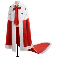 Men King Cosplay Red Coronation Robe Performance Costumes Ca...
