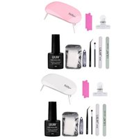8ml prego extensão Gel Set Manicure Lâmpada Tesoura Arquivos Builder Varnish Kit