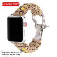 Per orologio mela banda 44 millimetri 42 millimetri 38 millimetri a telaio esterno banda camuffamento cinghia corda ombrello salvavita per iWatch 4 3 2 1