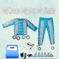 Pressoterapia emagrecimento sauna Infravermelho EMS Estimulação Muscular Elétrica Lymph Drenagem máquina Do Corpo equipamentos de massagem pressotherapy 4 em 1