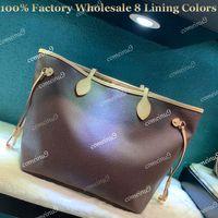 Shopping tote donna all'ingrosso di fabbrica con pochette Borsa a tracolla in vera pelle 40996 Borsa da donna di alta qualità 41358 8 colori di rivestimento
