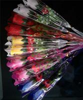 2020 San Valentino regalo rosso incandescente Rose per la festa della mamma Led Luminous Rose colorate fiori lampeggiante Giocattoli Wedding decorazione domestica C121804