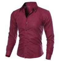 good quality Autumn Men' s Shirts Men Clothes Slim Fit M...
