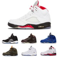 New arrivals 5 Men Basketball Shoes Black Metallic Cement 5s...