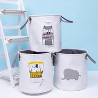 Kirli Elbise Basket INS Saklama Sepetleri Çocuk Oyuncak Saklama Poşetleri Kutuları Kepçe Giyim Organizatör Çamaşır Çanta Kanvas Çanta LJJA3689-13