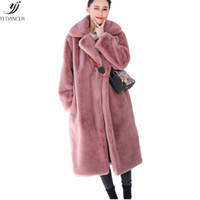2018 Autumn And Winter Fashion New Fur Coat Female Long Sect...