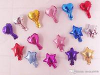 Großhandel 5 zoll herzform und stern aluminiumfolie ballon hochzeit dekoration party liefert helium ballon