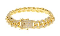 Mens Iced Out 12MM Thick Heavy Gold Silver CZ Cuban Link Bra...