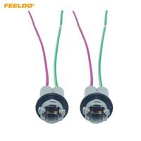 Titolare del connettore della base dello zoccolo Adapter Luce Feeldo 2PCS auto T15 W16W LED T15 inversione lampada adattatore per auto camion Styling # 5965