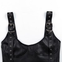 Womens Buckle Strappy Crop Tops Sleeveless Bodycon Bra Vest ...