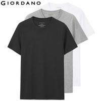 Sólido Homens Camiseta manga curta 3-Pack Undershirt Masculino Mens Cotton Sólidos T Verão Jersey Roupa do tipo Sous Vetement Homme Tendência