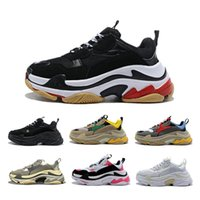 Paris 2020 Crystal Bottom Triple-S Leisure Shoes Luxury Dad Shoes Platform Triple S Sneakers for Men Women Vintage Kanye Old Grandpa Trainer