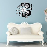 Wall Clock Sticker Circle Around 3D Wall Watch Stickers DIY ...