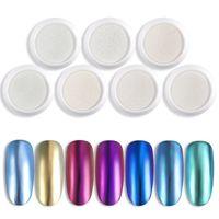 Chrome perle Shell Coquille Nail Art Glitter Pigment Poudre Brillant Longue Durée Manucure Nail Tip Décoration Gel Poudre F570