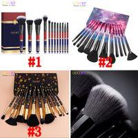Pinceaux de maquillage Set Docolor 12 pcs Star Professional Premium Synthétique Kabuki Pinceau de maquillage Set Fondation Mélanger Blush Fard à Paupières Brosses