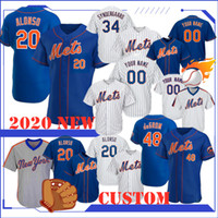2020 calidad Béisbol 20 Pete Alonso Jersey Darryl Strawberr Piazza Jacob deGrom Noah Syndergaard Michael Conforto Keith Top