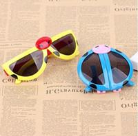 Gratis verzending kind speelgoed vouw glazen speelgoed lieveheersbeestje mooie vervorming kind zonnebril jongen en meisje mooie persoonlijkheidsbril