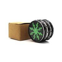 4 Layers 63*46mm Transparent Top Cover Herb Grinder Fan Shap...
