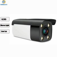 H.265 IP PoE 따뜻한 라이트 카메라 HD F1.4 렌즈 전체 어두운 환경에서 전체 컬러 야간 비전 CCTV 보안 야외 카메라 AS-IP9301NAP