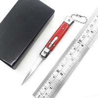 Yeni 4.75 Inch Mini Otomatik Bıçak Ayna Bıçak 3 Renk Reçine Sap Anahtar Taşınabilir savunma bıçak açık EDC çok fonksiyonlu kesici