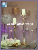 Nuevo estilo Crystal Goblet Candle Holder Flower Ball Acrílico Centro de Mesa para Eventos de Boda Decoración decor311