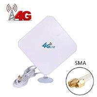 4G LTE антенна SMA антенны 35dBi с высоким коэффициентом усиления антенны с присоской двойной Mimo SMA вилка 3G / GSM WiFi Signal Booster для T200608