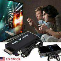 HDMI Video Converter Ses Çıkışı PS2 için PS2 HDMI Video Dönüştürücü AV Adaptörü USB kablosu