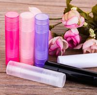Kaplar Tüpler 100pcs ruj 5g Dudak DIY Dudak Parlatıcı Boş Şişeler Mini Doldurulabilir Lipgloss Tüp Plastik Numune Losyon
