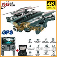 2019 S167 GPS Folding Quadrotor RC Drones 4K HD Camera 5G WiFi FPV 1080P RC helicóptero com câmera 4 Channel RC Aircraft