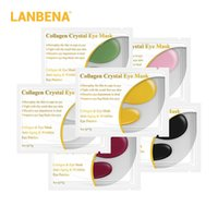 LANBENA 1 paire Collagen Collagen Masque Eye Patchs oculaires Pour Réparation Circles Noirs Retirez le masque de gel