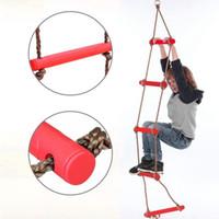 تسلق الأطفال حبل سلم التسلق لعبة جدي رياضة حبل أرجوحة الآمن للياقة البدنية لعب في الأماكن المغلقة حديقة في الهواء الطلق حبل تسلق سلم ZZA2357 6PCS