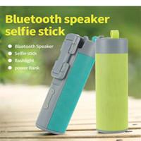 4 em 1 Multifuncional Esporte Ao Ar Livre Portátil Sem Fio Bluetooth Selfie Vara Speaker Portátil Speaker com Selfie Vara e Banco De Potência