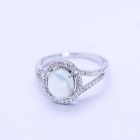 New Product Fashion 925 Sterling Silver Synthetic Prehnite C...