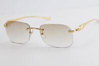 Vendre des lunettes de soleil sur la série de métaux de métal sur le léopard T8100624 Cat Eye de chat Verres Sun Verres Mode Haute Qualité Été Extérieur Voyager en or