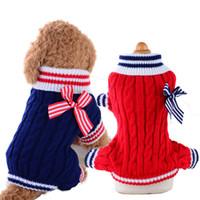 VIP Pet Dog Maglione Marina Maglione all'ingrosso di animali del cane maglione Autunno Inverno cucciolo vestiti di cotone del cappotto piccoli vestiti del cane