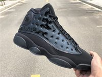 2019 New 13 XIII all Black leather low Men Basketball Shoes ...