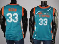 Taze Bel-Air 33 Prensi 33 Jackie Moon Tropics Yarı Pro Film Erkek Jersey 100% Dikişli Yüksek Kaliteli Basketbol Forması İşlemeli
