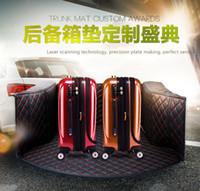 6 لون سيارة الحصير الحصير حماية البيئة الخاصة جميع جولة بي ام دبليو أودي تويوتا هوندا الجذع حصيرة مخصصة السجاد اكسسوارات الداخلية