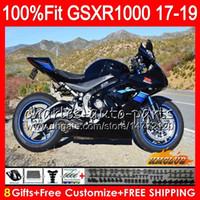 Injektion för Suzuki GSX R1000 Glossy Black New GSX-R1000 GSXR 1000 17 18 19 17HC.27 L7 L8 GSXR-1000 K17 GSXR1000 2017 2018 2019 Fairing Kit
