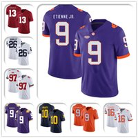 NCAA CLEMSON TIGERS 9 Travis Etienne JR Jersey 8-5 Trevor Lawrence Jerseys 9 Joe Burrow Jersey 13 TUA TAGOVAILO 10 TOM BRADY JERSEYS