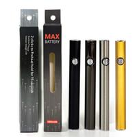 Amigo Max 510 Rosca Vape pluma de la batería de voltaje variable 510 de la batería 380mAh ajustable precalentamiento Vape cartuchos de baterías originales del 100%