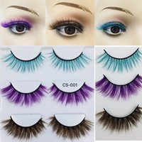 3 pairs of high- grade colored false eyelashes 3D thick thick...