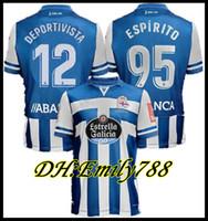 20 21 DePortivo La Coruna Home Soccer Jersey 2020 2021 Coruña Rober Pier Exposito Diego Rolan Santos Football Camisetas Classic Shirts Kit